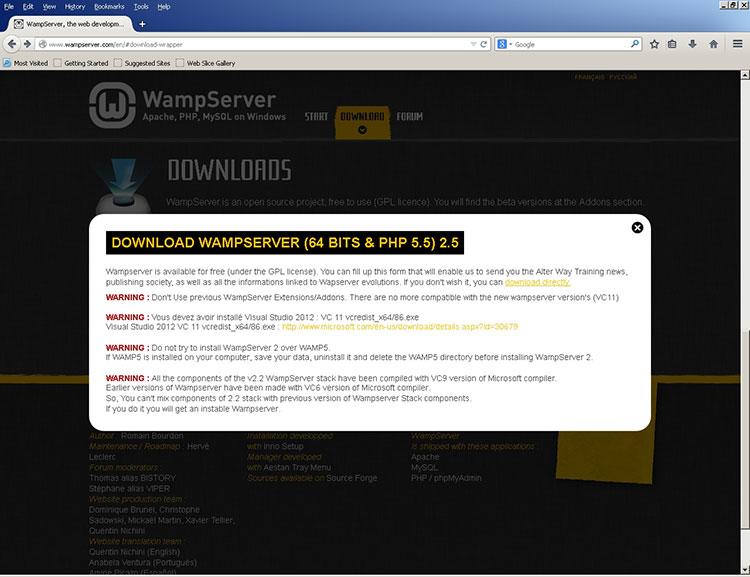 Wamp Server Download Warning