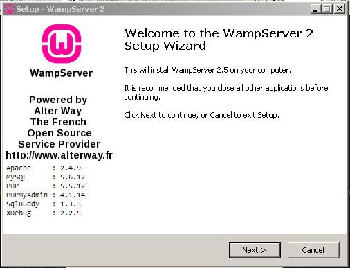 Wampserver Install Wizard